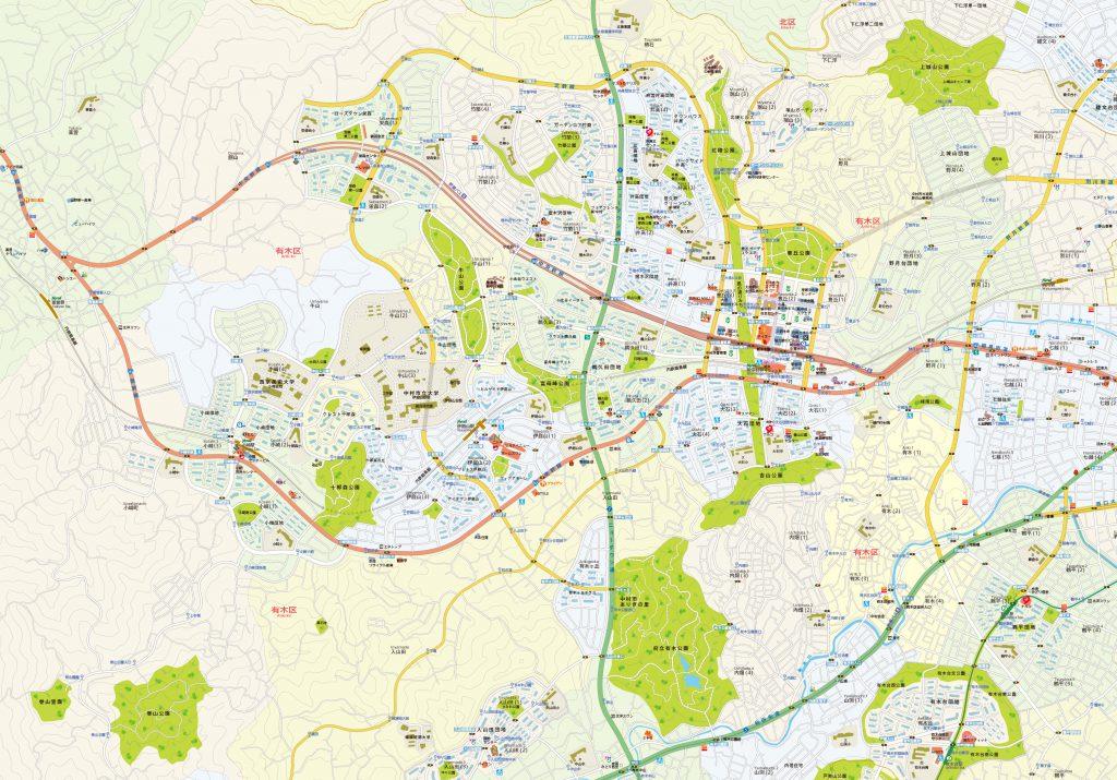 同じエリアの現在の都市地図