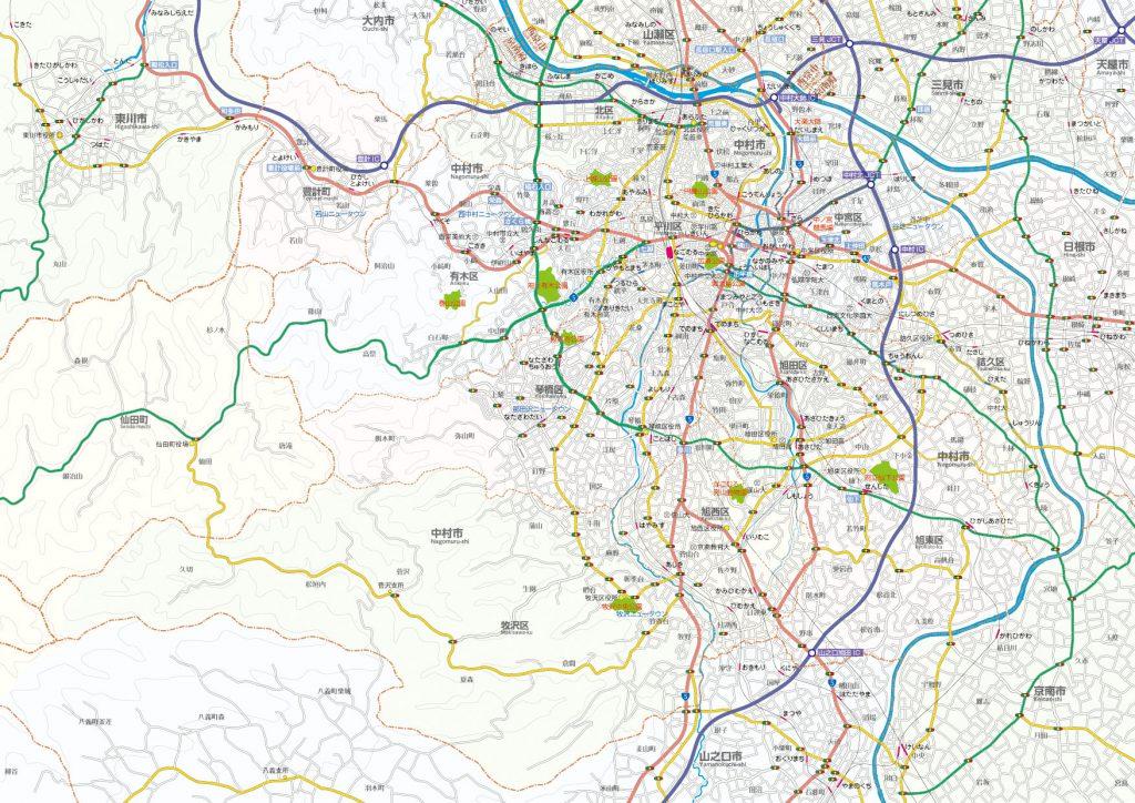 中村市の全体像─10万分の1地図─